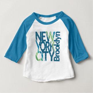 Typographie de Brooklyn New York T-shirt Pour Bébé