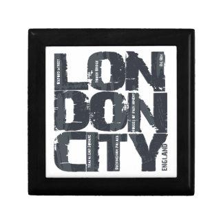 Typographie de Londres, Angleterre Petite Boîte À Bijoux Carrée