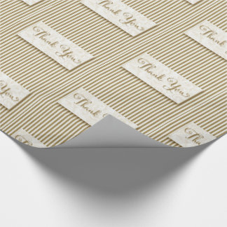 Typographie de Merci avec les rayures molles de Papiers Cadeaux