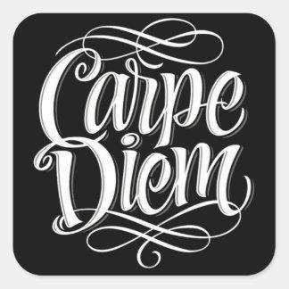 Typographie de motivation de Carpe Diem Sticker Carré