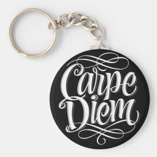 Typographie de motivation de Carpe Diem Porte-clés