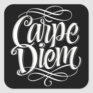 Typographie de motivation de Carpe Diem Sticker Carré