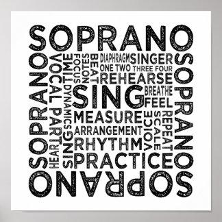 Typographie de soprano posters