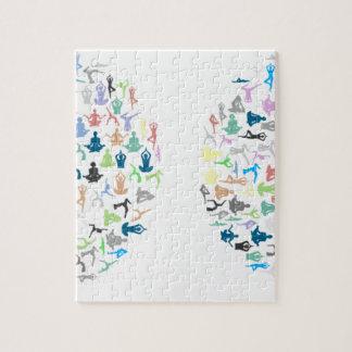 Typographie de yoga puzzle