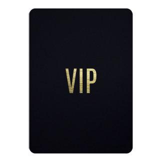 "Typographie élégante de l'aluminium ""VIP"" de Carton D'invitation 12,7 Cm X 17,78 Cm"