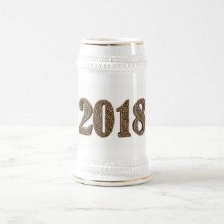 Typographie élégante d'or de nombre de la bonne chope à bière