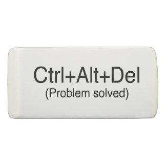 Typographie Geeky rétro CTRL+Alt+Del Novelty Joke Gomme
