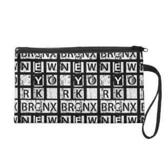 Typographie grunge de Bronx New York | Sacs À Main Avec Dragonne
