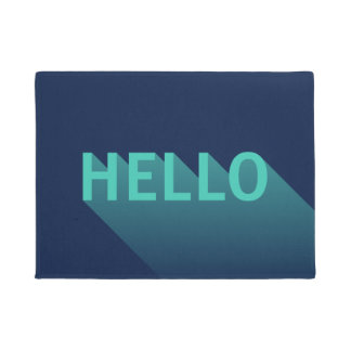 Typographie moderne de Teal de bleu marine et Paillasson