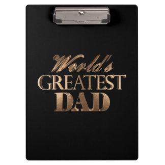 Typographie noire élégante d'or du plus grand papa