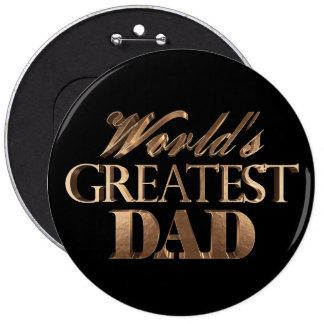 Typographie noire élégante d'or du plus grand papa badges