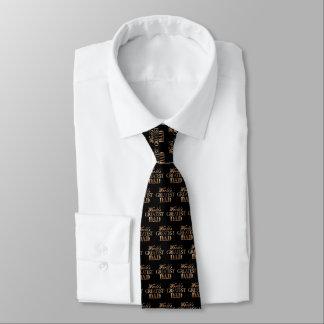 Typographie noire élégante d'or du plus grand papa cravates