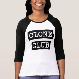 Typographie orpheline de club de clone du noir   t-shirt
