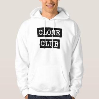 Typographie orpheline de club de clone du noir | veste à capuche