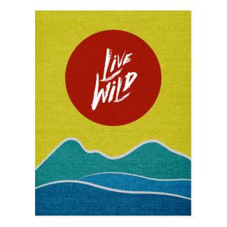 Typographie positive sauvage vivante de citation cartes postales