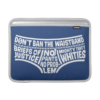 Typographie Tighty Whities de capitaine Underpants Poche Pour Macbook Air