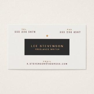 Typographie vintage fraîche noire et blanche cartes de visite