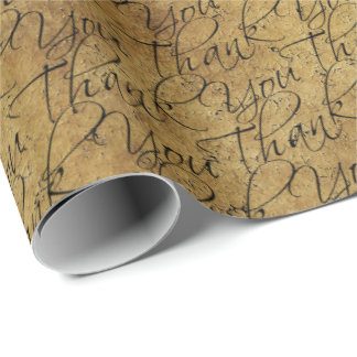 Typographie vintage - Merci Papier Cadeau