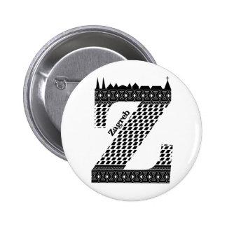 Typographie Z (Zagreb : Bouton de la Croatie) Badge