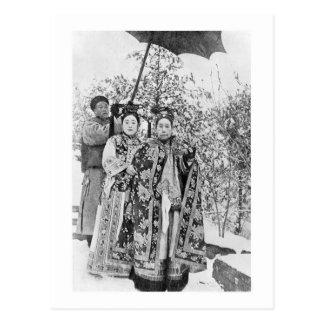 Tz'u sa (1835-1908) douairières d'impératrice de cartes postales