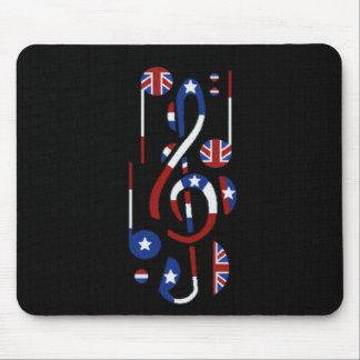 U.K. Et notes de musique des Etats-Unis Tapis De Souris