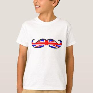 U.K. Moustache de drapeau T-shirts