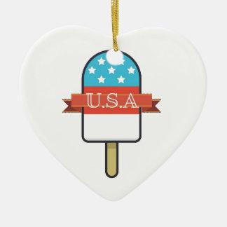 U.S.A. Esquimau Ornement Cœur En Céramique