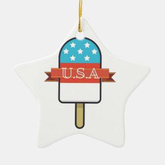 U.S.A. Esquimau Ornement Étoile En Céramique