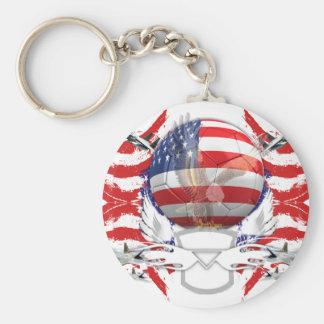 U.S.A. Le football Porte-clé Rond