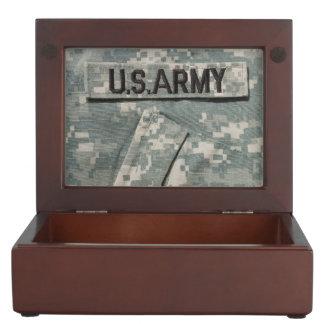 U.S. Boîte en bois de souvenir d'armée Boîte À Souvenirs