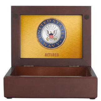 U.S. Boîte en bois de souvenir retirée par marine Boîtes À Souvenirs