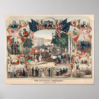 U.S. Histoire : Le quinzième amendement Poster