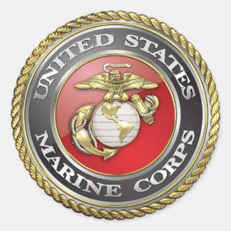 U.S. La Marine Corps (usmc) symbolise [3D] Sticker Rond