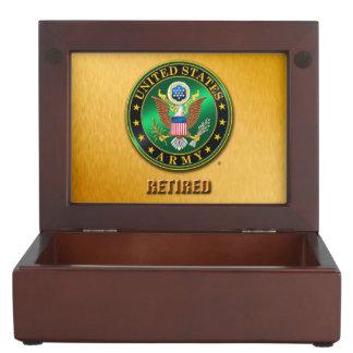 U.S. L'ARMÉE ROUISSENT la boîte en bois de Boîte À Souvenirs