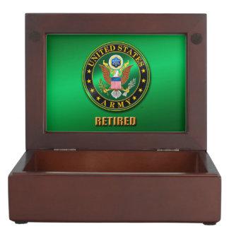 U.S. L'ARMÉE ROUISSENT la boîte en bois de Boîtes À Souvenirs