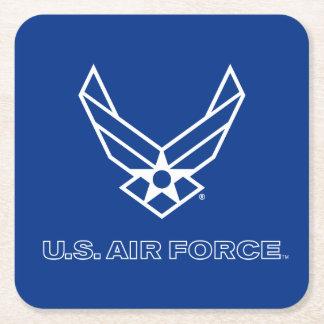 U.S. Logo de l'Armée de l'Air - bleu Dessous-de-verre Carré En Papier