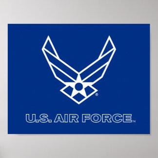 U.S. Logo de l'Armée de l'Air - bleu Poster
