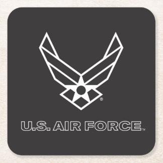 U.S. Logo de l'Armée de l'Air - noir Dessous-de-verre Carré En Papier