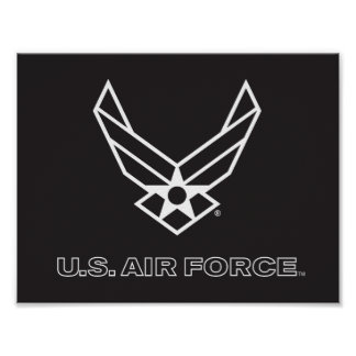U.S. Logo de l'Armée de l'Air - noir Poster