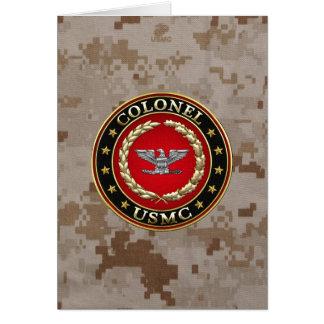 U.S. Marines : Colonel (Col d'usmc) [3D] Cartes