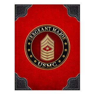 U.S. Marines : Commandant de sergent (usmc SgtMaj) Carte Postale