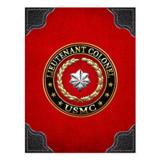 U.S. Marines : Lieutenant-colonel (usmc LtCol) Carte Postale