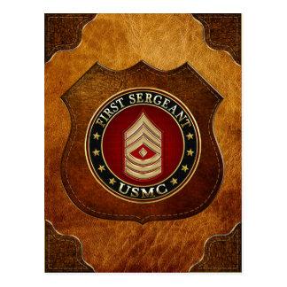 U.S. Marines : Premier sergent (usmc 1stSgt) [3D] Carte Postale