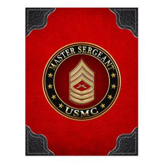 U.S. Marines : Sergent maître (usmc MSgt) [3D] Carte Postale