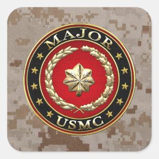 U.S. Marines : Spécialisez-vous (commandant Sticker Carré