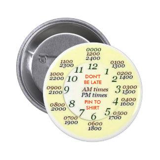 U.S. MILITAIRE - temps Badge Rond 5 Cm