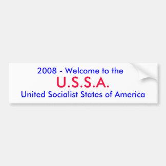 U.S.S.A., 2008 - accueil au, Social uni… Autocollant Pour Voiture