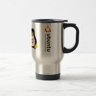 Ubuntu - les versions jusqu'au 11.04 mug de voyage en acier inoxydable