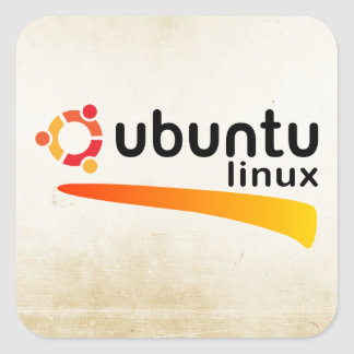 Ubuntu Linux Open Source Sticker Carré