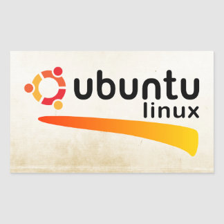 Ubuntu Linux Open Source Sticker Rectangulaire